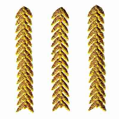 Single Gold Chevron Strip Iron On Military Patch