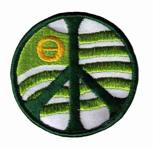 Ecology Peace Sign Iron On Patch Applique