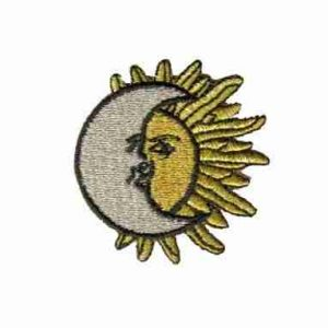 Moon Over Sun Iron On Applique