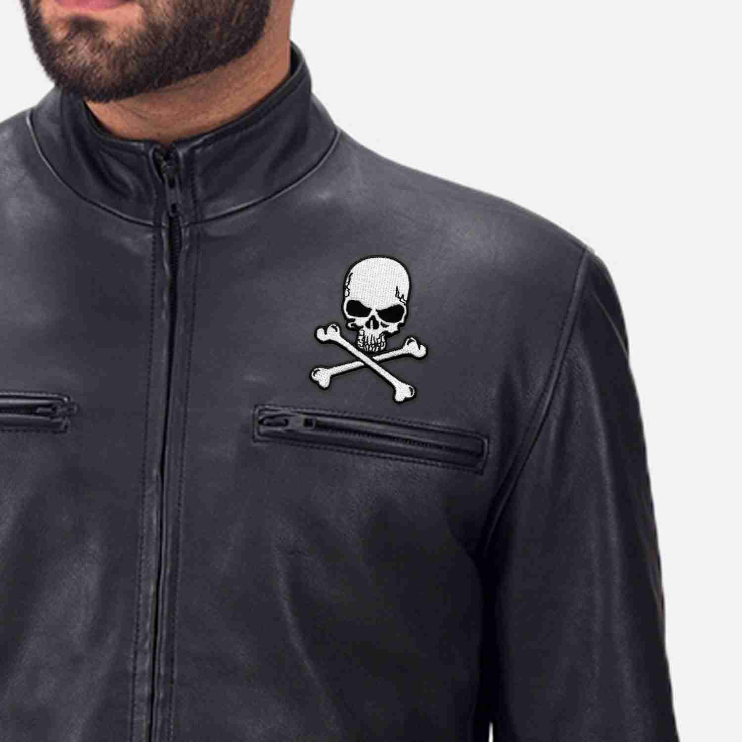Bat Wing Motorcycle Skull Iron On Patch