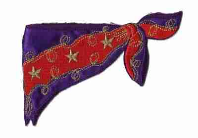 Red Hat Lady Western Neckerchief Iron On Applique