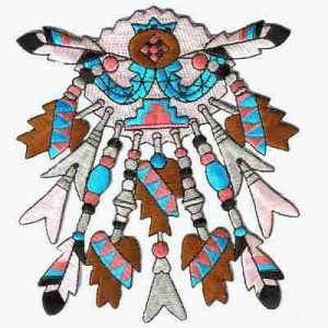Indian Headdress Iron On Native American Patch Applique