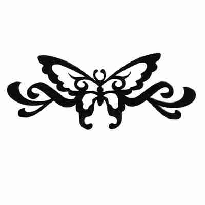 Butterflies - Black Cutout Silhouette Butterfly Iron On Applique