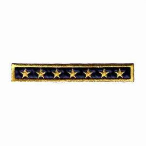 Military Star Bar Iron On Applique