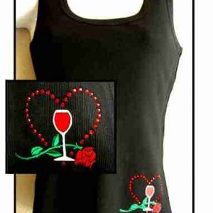 Sample 10 - Romantic Wine & Roses Tank Top - NOT FOR SALE