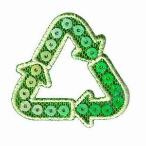 Int'l Recycling Symbol Iron On Ecology Patch Applique