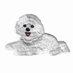 Dogs - Bichon Frise Iron On Dog Patch Applique