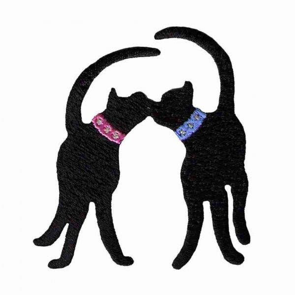 Two Cats Kissing Iron on patch 1340 820