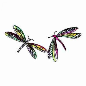 Dragonflies - Pair of Dragonflies Patch Applique
