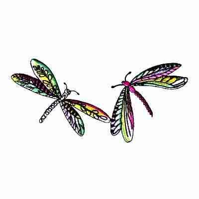 Dragonflies - Pair of Dragonflies Patch Applique