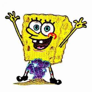 SpongeBob Squarepants Hands Up Iron On Patch Applique