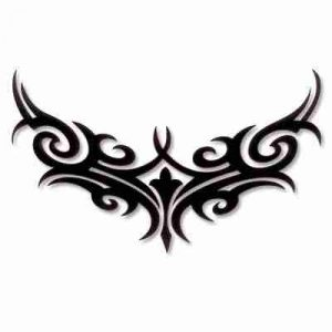 Tattoo Style PVC Iron On Neckline Patch Applique