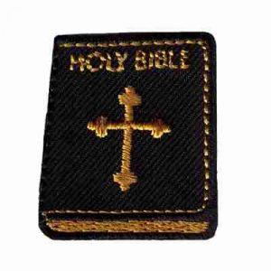 Holy Bible Iron On Religious Patch Applique