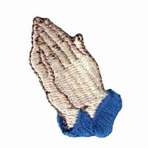 Praying Hands Iron On Religious Patch Applique