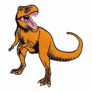 Dinosaur Patches - T-Rex Dinosaur Iron On Children's Patch Appli