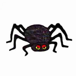 Halloween - Small Spider Iron On Holiday Patch Applique