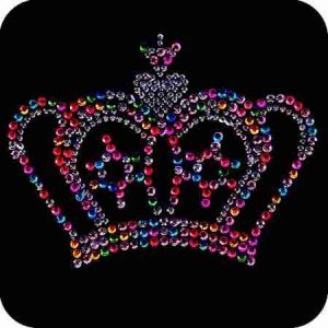 Crowns - Royal Multi-colored Rhinestud Crown Applique