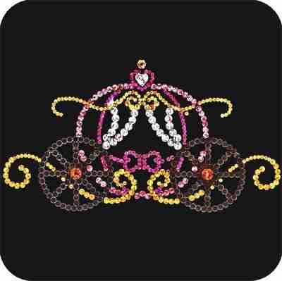 Cinderella's Pumpkin Carriage Iron On Sequined Applique