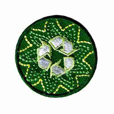 Recycling Round Iron On Ecology Patch Applique