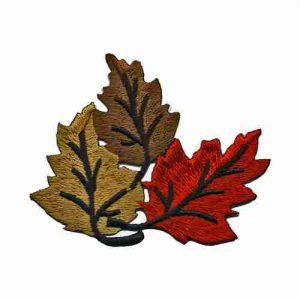 Trio Of Fall Leaves Iron or Sew on Patch Applique