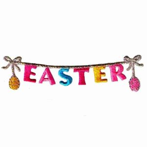 Easter Chain Iron On Patch Applique