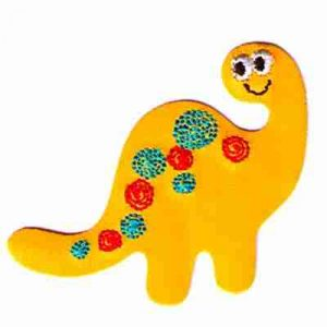 Cute Yellow Dinosaur Iron On Children's Patch Applique