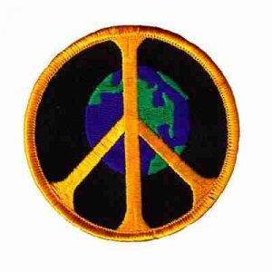 Peace on Earth Iron On Patch Applique