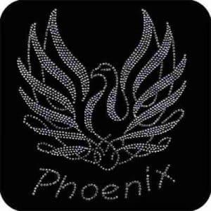 Birds - Phoenix - Rhinestone Mythical Phoenix Bird Iron on Appli