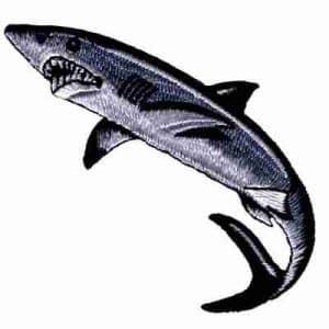 Shark - Ferocious Shark Iron On Sealife Patch Applique