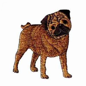 Dogs - Pug Dog Iron On Patch Applique