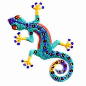 Gecko - Colorful Iron or sew on Patch Applique