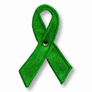 Environmental Awareness Ribbon Iron On Patch Applique