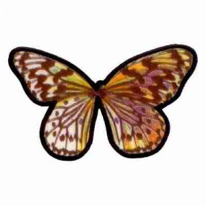 Butterflies - Multi-Colored Embroidered Butterfly Iron On Appliq