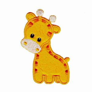 Cute Puffy Embroidered Giraffe Iron On Children's Patch