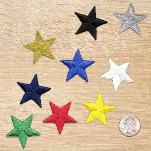 NAUTICAL STAR ROCK AND ROLL  IRON ON PATCH