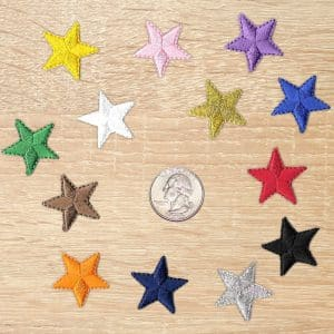 Colorful Stars /& Gold Star Dust Patch Embroidered Ladies Patches