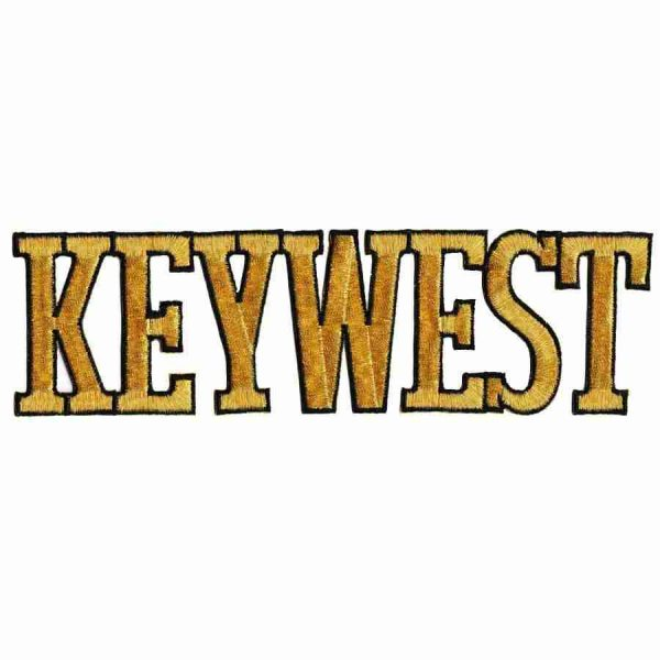 Key West Block Lettering Iron On Patch Applique