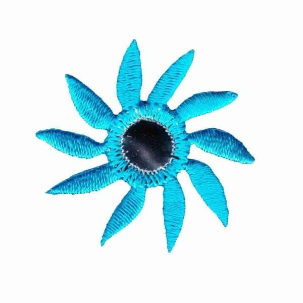 Mirrored Pinwheel Flower Patch Blue 639 1200