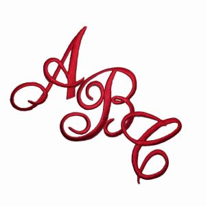 Embroidered Script RED Iron On Letters - Sold Separately