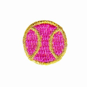 Tennis - Small Fushia Tennis Ball Iron on Applique