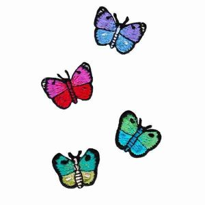 Tiny Embroidered Butterfly Iron on Patches