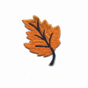 Orange Fall Leaf Applique