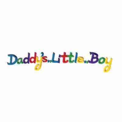 """Daddy's Little Boy"" Iron On Patch Applique"