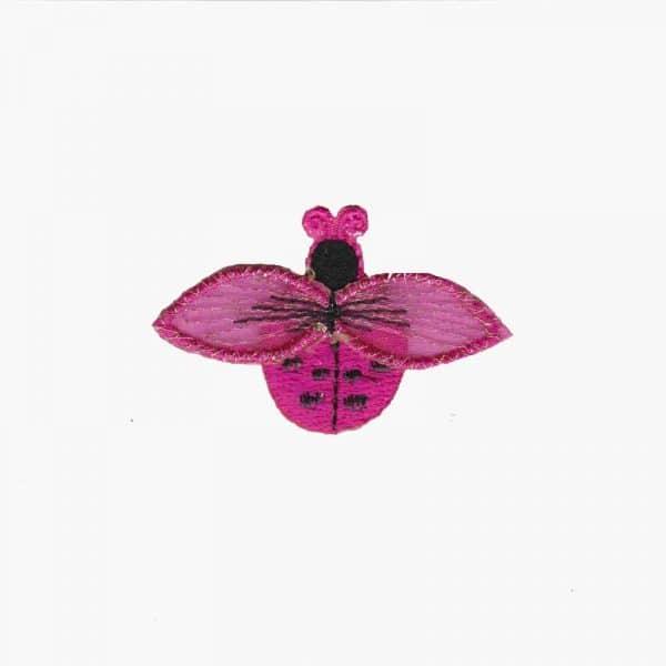 Ladybugs - Small Ladybug in FUCHSIA Iron On Appliques