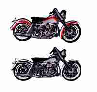 Black and grey Motorcycle patch also available in red and grey Iron On Harley Patch Applique