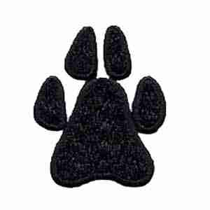 "Dogs - Paw Print 2"" Iron On Patch Applique"
