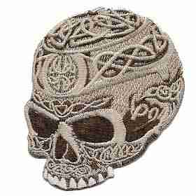 Celtic Skull Iron or Sew on Patch Applique