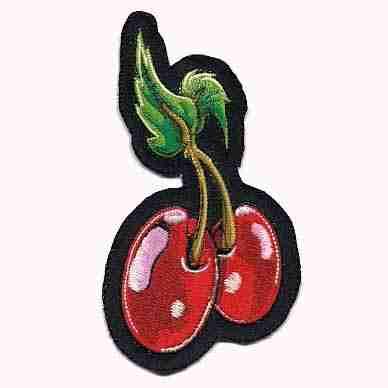 Fruit - Cherries - Double Cherries Iron On Patch