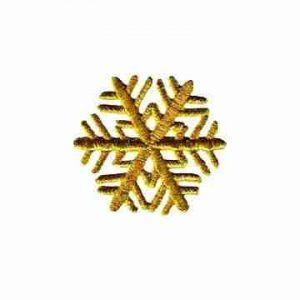 Winter Snowflake in GOLD Iron On Holiday Patch Applique