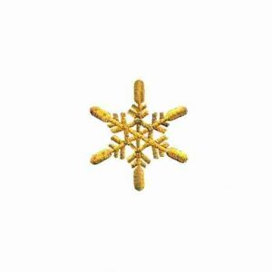 Christmas Snowflake in GOLD -SMALL- Iron On Holiday Applique